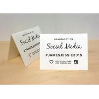 Wholesale Wedding Hashtag Tent Card / Plastic Sign Holder For Tabletop Display Advertising from china suppliers