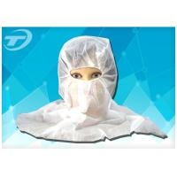 Wholesale Soft Breathable Hood Snood Disposable Head Cap in White Blue from china suppliers