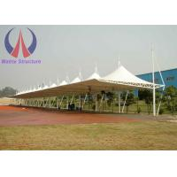 Wholesale Metal Membrane Tensile Car Parking Shades Net , Lightweight Parking Cover Structures from china suppliers