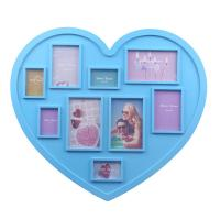 Wholesale Hot sales Valentine's day Gift!! Heart Shape Plastic Photo Frame Girl Photo Frame. from china suppliers