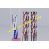 Wholesale Solid Carbide Milling Machine End Mills Long Shank Type 0.5 UM Grain Size from china suppliers