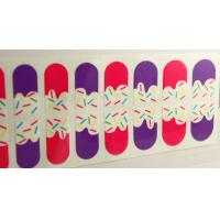 Wholesale PET Coating Gold glitter Kids Finger Nail Stickers for lady fingers from china suppliers