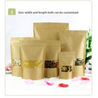 Wholesale Food Grade Kraft Paper Bag With Clear Window / Mylay Bag For Bean , Candy , Bread , Coffee from china suppliers