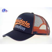 Wholesale MeshTrucker Caps Wholesale Breathable Baseball Cap Black And Orange 5 Panel from china suppliers