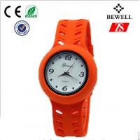 Wholesale Orange Or Brown Water Resistant Ladies Silicone Watches With Alloy Case from china suppliers