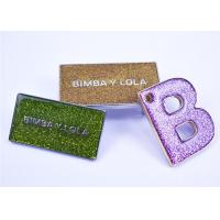 Wholesale Glitter Clear Epoxy School Metal Badges , Lapel Pin Badges Personalized from china suppliers