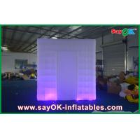 Wholesale Purple Cube Inflatable Photo Booth Tent 2 Doors Bottom Led Light from china suppliers