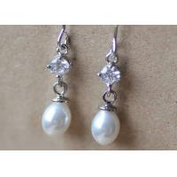 Wholesale Zinc Alloy Teardrop Fake Pearl And Diamond Earrings For Wedding Vintage White Color from china suppliers