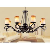 Wholesale Contemporary Wrought Iron Blown Glass Chandeliers Lamp For Living Room / Bedroom from china suppliers