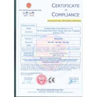 China Halley Power Machine Co., Ltd Certifications