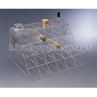 Wholesale Customized Counter Top Acrylic Cosmetic Organizers With Slot Pocket from china suppliers