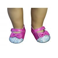 Wholesale Cerise Paillette Head Doll Shoes with Bowknot , 18 inch Doll Doll Stylish Design from china suppliers