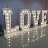 Wholesale Large Alphabet Illuminated Love Letters , Wedding LED Light Up Letters Signs from china suppliers