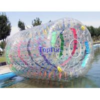 Wholesale Fire Resistance Inflatable Water Roller With Colorful Strings Inside For Show from china suppliers