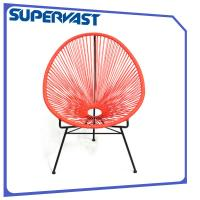 Wholesale Tripod Circular PE Rattan Weaving Funky Dining Room Chairs Outdoor Stackable Egg Chair from china suppliers