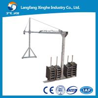 Wholesale Wire rope hanging platform / steel suspended platform / aluminum temporary gondola ZLP800 for high rise building from china suppliers