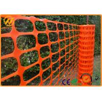 Wholesale Flexible Polyethylene Plastic Mesh Fencing Fluorescent Orange Eco Friendly from china suppliers