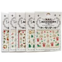 Wholesale Christmas Nail Accessory 3 D Design Nail Sticker Nail Art Sticker Decoration from china suppliers