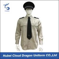 Wholesale Lightweight Security Guard Shirts Long Sleeves With Adjustable Cuffs , Logo Printed from china suppliers