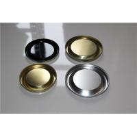 Wholesale Customized Round Metal Easy Open Lid For Wine Paper Tube Black / Golden Color from china suppliers
