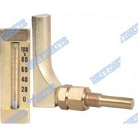 Wholesale V Line Glass bimetallic thermometers Aluminum and gold colour body from china suppliers