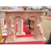 Wholesale Angel Sculpture Marble Stone Fireplace from china suppliers