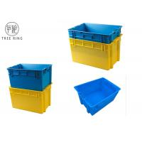 Wholesale Aquaculture Collapsible Plastic Crate ,Plastic Fish Bins With Solid Base And Sides from china suppliers