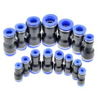 Quality PU Union Stright one touch black 4/6/8/10/12/16MM pneumatic tube fittings for sale