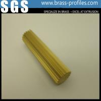 Wholesale C38500 Mold Made BrassToothed Bar / Copper Toothed Round Bar from china suppliers