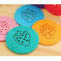 Wholesale high quality various color factory price fashion round felt coaster from china suppliers
