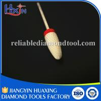 Wholesale Type Fine Flame Ceramic Nail Drill Bit Head Diameter 6.3mm Red base from china suppliers