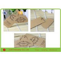 Wholesale 300Gsm 26 X 30 Mm Custom Garment Hang Tags , Brown Kraft Paper Hang Tags For T - Shirt from china suppliers