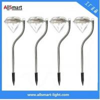 Wholesale RGB color Stainless Steel solar powered stake garden lights for pot plant from china suppliers