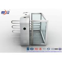 Wholesale Fingerprint Reader Waist Height Turnstiles Stainless Steel Turnstyle Gate For Access Control from china suppliers