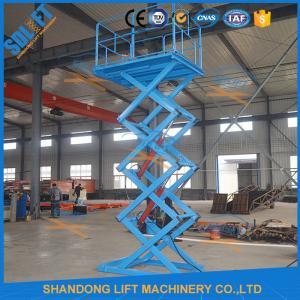 Wholesale 1.5T 3.8M Stationary Hydraulic Scissor Lift , Scissor Lifting Equipment SGS TUV from china suppliers