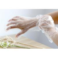 Quality Transparent Disposable Plastic Gloves For Food Preparing / House Cleaning for sale
