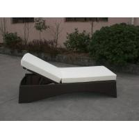 Wholesale UV Resistant Waterproof Rattan Sun Lounger For Poolside / Lawn from china suppliers
