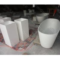 Wholesale Corian acrylic solid surface pedestal wash basin from china suppliers