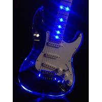Quality Clear Acrylic See-Thru Body Vintage Style Electric Guitar With LED Light (Blue LEDs) for sale