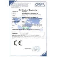Wenzhou Sunuse Electric Technology Co., Ltd. Certifications