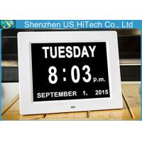 Wholesale 8 Inch Auto Dimming Elder Care Digital Calendar Clock With LED Backlight from china suppliers