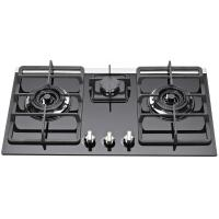 Wholesale Kitchen Auto Ignition 3 Burner Gas Stove With Glass Top / Heavy Pan Support from china suppliers
