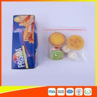 Wholesale PE Transparent Plastic Snack Bags With Zipper , Reusable Snack And Sandwich Bags from china suppliers