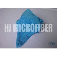 Wholesale Single composite Blue Microfiber Rags / Ultra Thick Plush Fleece Microfiber Dish Cloths 25X25cm from china suppliers