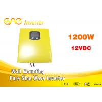 Wholesale Off Grid High Power Dc 12v 24v To Ac 220v Pure Sine Wave Inverter Charger 1200w from china suppliers