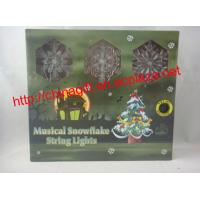 Buy cheap LED Musical Snowflake Christmas String Lights from wholesalers