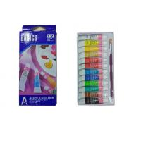 Wholesale Strong Adhesion Basics Colored Acrylic Paint Set , Artists Paint Pigments 12 X 6ml Tubes from china suppliers