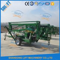 Wholesale Portable Electric Mobile Tow Behind Boom Lift , 10M Tow Behind Cherry Picker from china suppliers
