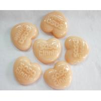 Wholesale 100G heart shape natural handmade herbal beauty soap, rich fruit vitamin from china suppliers