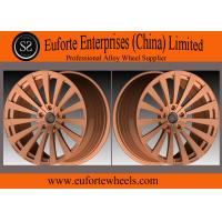 Quality SS wheels-Bronze Multiple - Spoke 1 Piece Forged Wheels Aluminum Alloy  6061 - T6 Material for sale